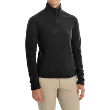 Mountain Hardwear Microchill Fleece Pullover Jacket - Zip Neck, Long Sleeve (For Women) in Black - Closeouts