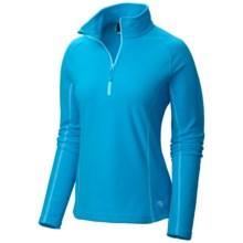 Mountain Hardwear Microchill Fleece Pullover Jacket - Zip Neck, Long Sleeve (For Women) in Ocean Blue - Closeouts
