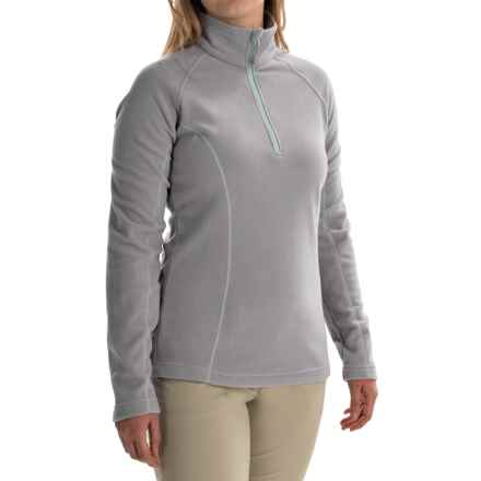 Mountain Hardwear Microchill Fleece Pullover Jacket - Zip Neck, Long Sleeve (For Women) in Steam - Closeouts