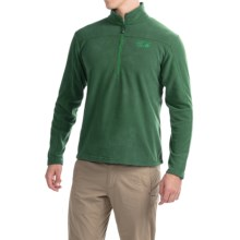Mountain Hardwear Microchill Fleece Shirt - Zip Neck, Long Sleeve (For Men) in Forest - Closeouts