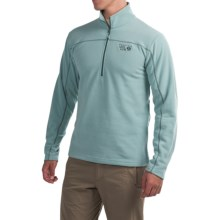 Mountain Hardwear Microchill Fleece Shirt - Zip Neck, Long Sleeve (For Men) in Ice Shadow - Closeouts
