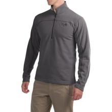 Mountain Hardwear Microchill Fleece Shirt - Zip Neck, Long Sleeve (For Men) in Shark - Closeouts