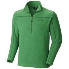 Mountain Hardwear Microchill Fleece Shirt - Zip Neck, Long Sleeve in Zen Green - Closeouts