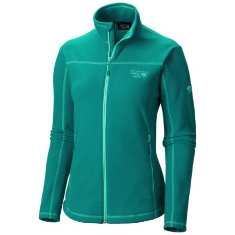 Mountain Hardwear Microchill Jacket - Fleece (For Women) in Emerald