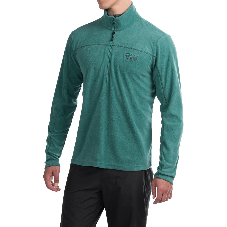 Mountain Hardwear Microchill Lite Fleece Jacket- Zip Neck, Long ...