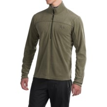 Mountain Hardwear Microchill Lite Fleece Pullover Jacket- Zip Neck, Long Sleeve (For Men) in Stone Green - Closeouts