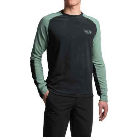 Mountain Hardwear Microchill Lite Fleece Shirt - UPF 50, Long Sleeve (For Men) in Black - Closeouts