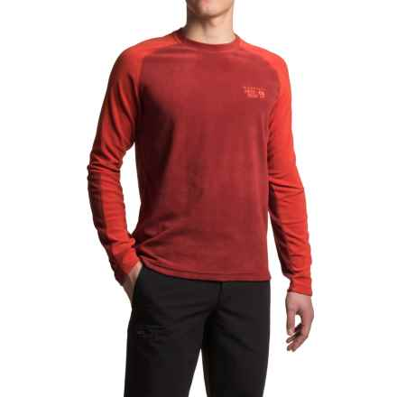 Mountain Hardwear Microchill Lite Fleece Shirt - UPF 50, Long Sleeve (For Men) in Smolder Red - Closeouts