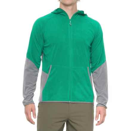 Mountain Hardwear Microchill Lite Hoodie - UPF 50, Full Zip (For Men) in Plastic Fern - Closeouts