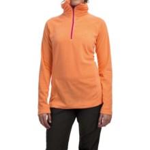 Mountain Hardwear MicroChill Lite Wick.Q® Fleece Shirt - Zip Neck (For Women) in Faded Orange - Closeouts