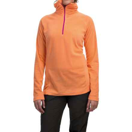 Mountain Hardwear MicroChill Lite Wick.Q® Fleece Shirt - Zip Neck (For Women) in Faded Orange - Closeouts