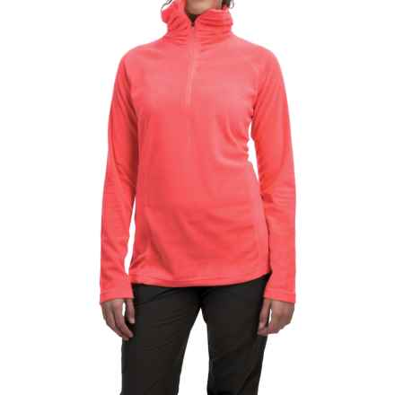 Mountain Hardwear MicroChill Lite Wick.Q® Fleece Shirt - Zip Neck (For Women) in Scarlet Red - Closeouts