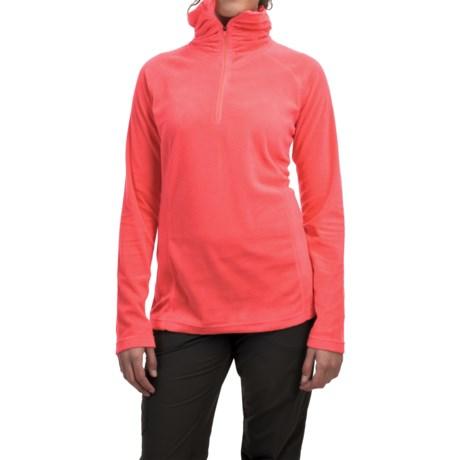 Mountain Hardwear MicroChill Lite Wick.Q® Fleece Shirt - Zip Neck (For Women) in Scarlet Red