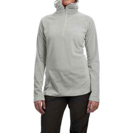 Mountain Hardwear MicroChill Lite Wick.Q® Fleece Shirt - Zip Neck (For Women) in Steam - Closeouts