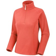 Mountain Hardwear Microchill Pullover Shirt - Fleece, Long Sleeve, Zip Neck (For Women) in Corange - Closeouts