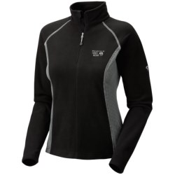 Mountain Hardwear MicroChill Tech Pullover - Zip Neck (For Women) in Black