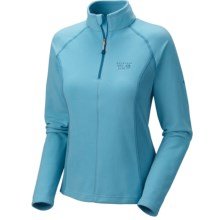 Mountain Hardwear MicroChill Tech Pullover - Zip Neck (For Women) in Dragonfly - Closeouts
