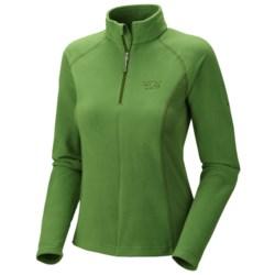 Mountain Hardwear MicroChill Tech Pullover - Zip Neck (For Women) in Palm