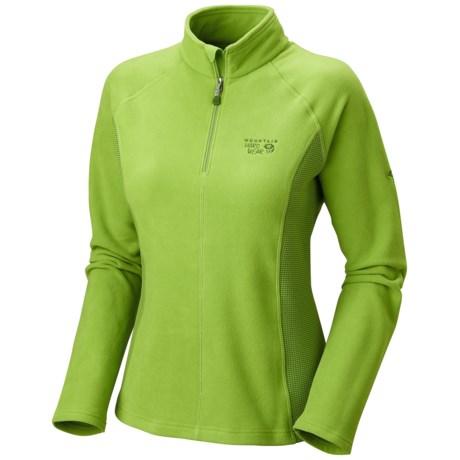 Mountain Hardwear MicroChill Tech Pullover - Zip Neck (For Women) in Spring
