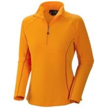 Mountain Hardwear Microchill Zip T Fleece Pullover - Zip Neck, Long Sleeve (For Women) in Solarize - Closeouts