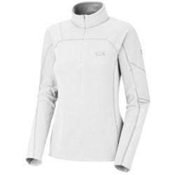 Mountain Hardwear Microgrid Zip Shirt - Long Sleeve (For Women) in Antigua Blue/Oasis Blue