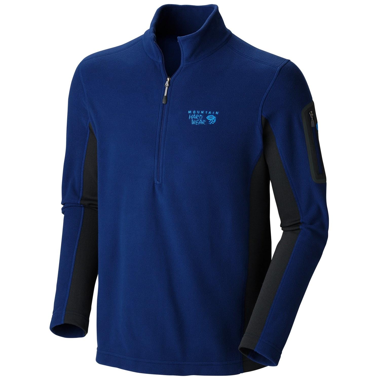 mountain hardwear microstretch fleece shirt zip neck
