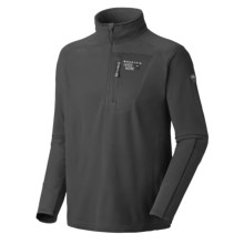 Mountain Hardwear MicroStretch Zip Pullover Shirt - Fleece (For Men) in Black/Black - Closeouts