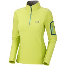 Mountain Hardwear Microstretch Zip T Fleece Pullover (For Women) in Neon Light - Closeouts
