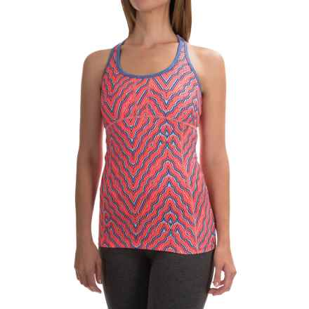 Mountain Hardwear Mighty Activa Printed Wick.Q® Tank Top - Built-In Shelf Bra (For Women) in Coralescent - Closeouts