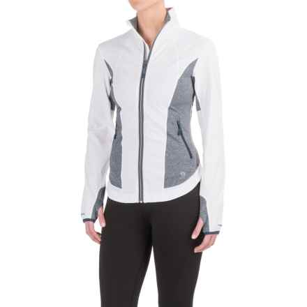 Mountain Hardwear Mighty Power Hybrid Jacket (For Women) in White/Heather Zinc - Closeouts