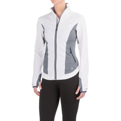 Mountain Hardwear Mighty Power Hybrid Jacket (For Women) in White/Heather Zinc