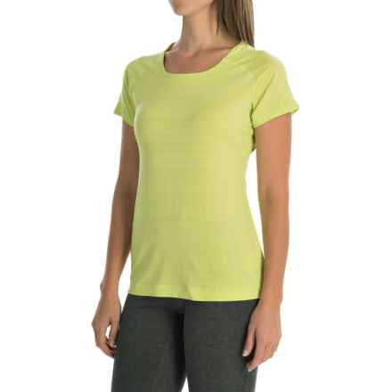 Mountain Hardwear Mighty Stripe T-Shirt - Short Sleeve (For Women) in Tippet - Closeouts