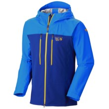 Mountain Hardwear Mixaction Dry.Q® Elite Jacket - Waterproof (For Men) in Cousteau/Hyper Blue - Closeouts