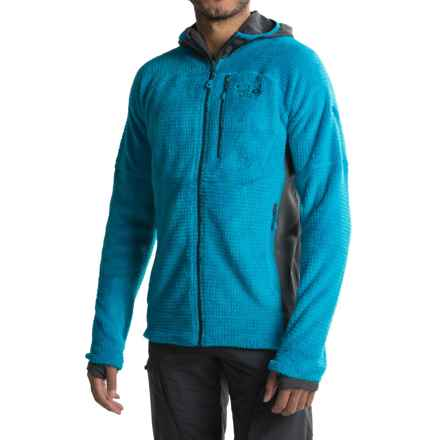 Mountain Hardwear Monkey Man Grid II Hooded Fleece Jacket - Polartec® Thermal Pro® (For Men) in Dark Compass - Closeouts