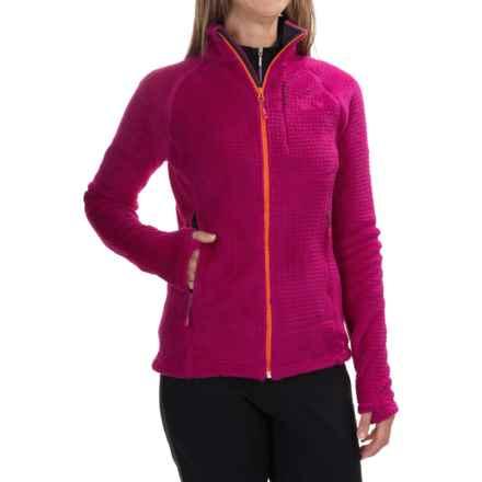 Mountain Hardwear Monkey Woman Grid II Jacket - Polartec® Fleece (For Women) in Deep Blush - Closeouts