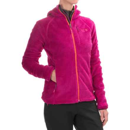 Mountain Hardwear Monkey Woman Grid II Polartec® Fleece Jacket - Hooded (For Women) in Deep Blush - Closeouts