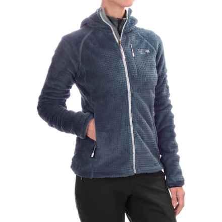 Mountain Hardwear Monkey Woman Grid II Polartec® Fleece Jacket - Hooded (For Women) in Zinc/Phantom Purple - Closeouts