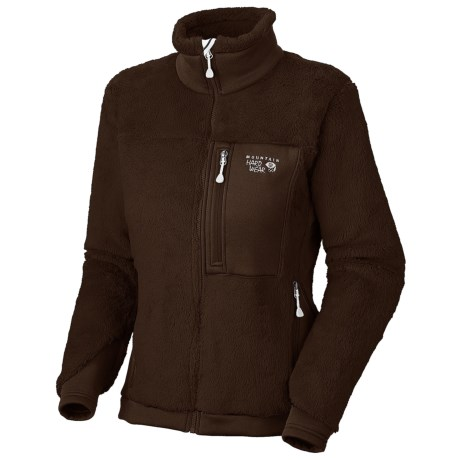 Mountain Hardwear Monkey Women Fleece Jacket - Polartec® Thermal Pro®, Power Stretch® (For Women) in Bark