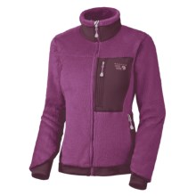 Mountain Hardwear Monkey Women Fleece Jacket - Polartec® Thermal Pro®, Power Stretch® (For Women) in Bramble/Nebiola - Closeouts