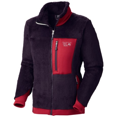 Mountain Hardwear Monkey Women Fleece Jacket - Polartec® Thermal Pro®, Power Stretch® (For Women) in Dark Plum/Sangria