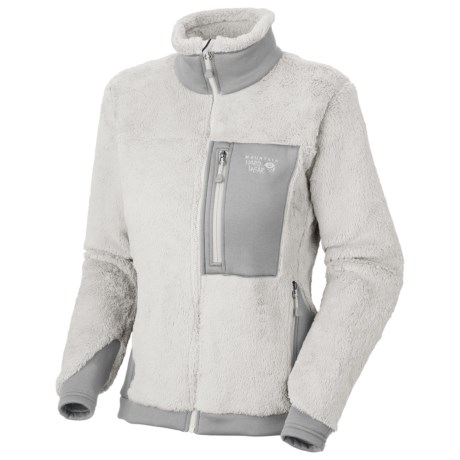 Mountain Hardwear Monkey Women Fleece Jacket - Polartec® Thermal Pro®, Power Stretch® (For Women) in Sea Salt/Steam