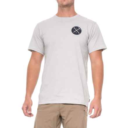 Mountain Hardwear Mountain Mechanic Crest T-Shirt - Short Sleeve (For Men) in Heather Grey Ice - Closeouts