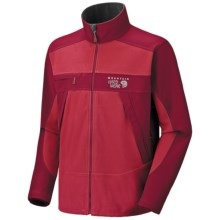 Mountain Hardwear Mountain Tech AirShield Fleece Jacket (For Men) in Bright Red/Barn Red - Closeouts