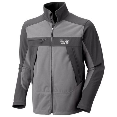Mountain Hardwear Mountain Tech AirShield Fleece Jacket (For Men) in Titanium/Shark