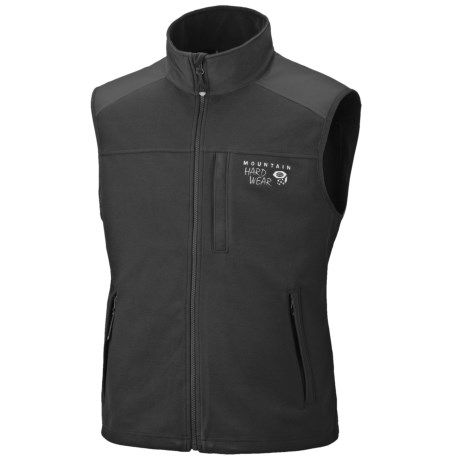 Mountain Hardwear Mountain Tech AirShield Fleece Vest (For Men) in Black/Black
