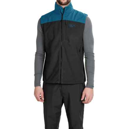 Mountain Hardwear Mountain Tech II Fleece Vest (For Men) in Black/Phoenix Blue - Closeouts