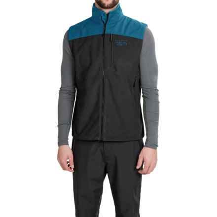 Mountain Hardwear Mountain Tech II Fleece Vest (For Men) in Black/Phoenix Blue - Closeouts
