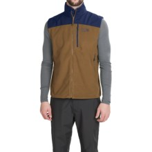 Mountain Hardwear Mountain Tech II Fleece Vest (For Men) in Golden Brown/Hardwear Navy - Closeouts