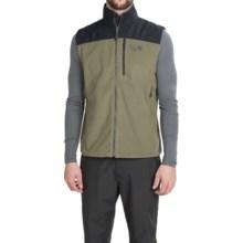 Mountain Hardwear Mountain Tech II Fleece Vest (For Men) in Stone Green/Black - Closeouts