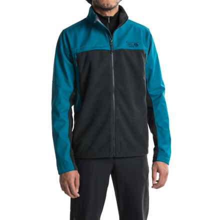 Mountain Hardwear Mountain Tech II Jacket - AirShield Fleece (For Men) in Black/Phoenix Blue - Closeouts
